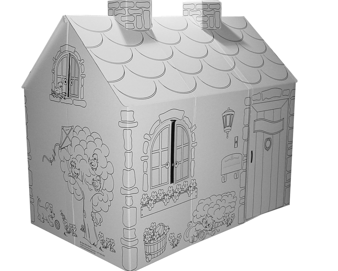 MH5536R cardboard coloring cottage | Cardboard-house
