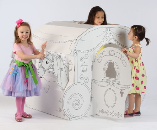 Awesome Cardboard Coloring Playhouse Photos - Coloring 2018 ...